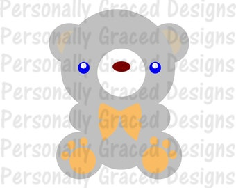 SVG, DXF, EPS Cut file Teddy Bearsvg, Bear Svg, Animal svg, silhouette cut file, cameo file, Cute Bear Svg design, Bear Cut File Design
