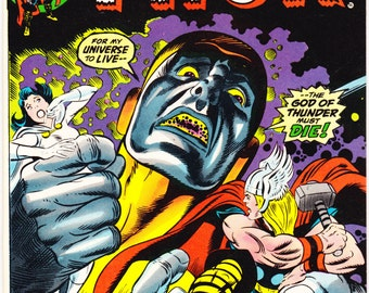 Thor 220 comic. Bronze age, Asgard, Norse Thunder Gods, Vintage book. Art by Buscema. 1974 Marvel Comics in VF/NM (9.0)