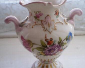 MEISSEN gilded porcelain floral urn vase