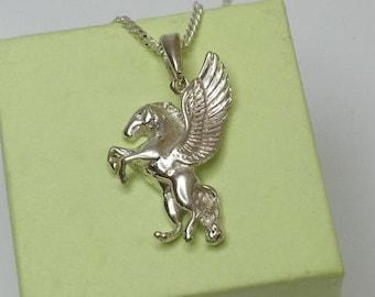 Silver Pendant Pegasus horse Silver 925 pendant SK453