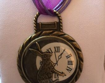 Alice In Wonderland Rabbit Pocket Watch Necklace