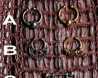 SALES !!!!New Septums Collection - FAKE - REAL - Boho - Gypsy - Ethnic - Unique Design - Surgical Steel