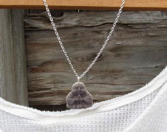 Buddha Necklace,Yoga Necklace,Shrink plastic Buddha, Boho Necklace, Boho Chic, Boho Jewelry, Buddha statue pendant, Buddha Jewlery,Yoga Gift