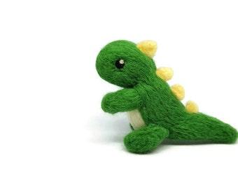 Dinosaur, Needle Felt Dinosaur, Wool Dino, Cubile Decor, Felt Dino, Mini Dinosaur, Dino Sculpture, Soft Dinosaur Sculpture, Dinosaur Decor