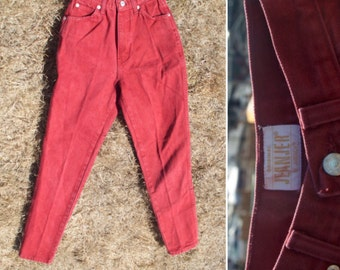 Vintage Faded Red Jordache Highwaisted Jeans