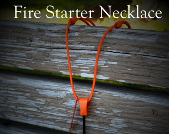 Fire Starter Necklace Hiking Camping Bushcraft