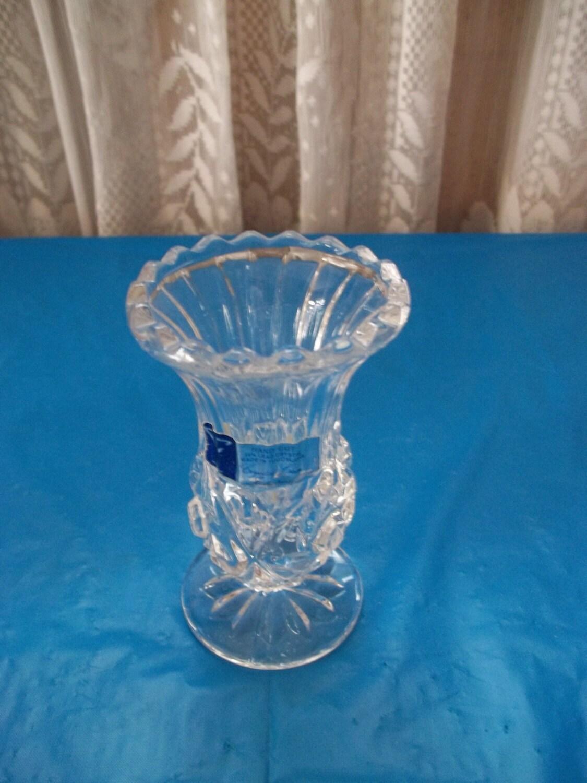 Bud Vase Crystal Industries Hand Cut Yugoslavia