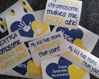 Down Syndrome Awareness Chromosome Decals