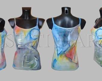 HAND PAINTED TOPS womens tops womens tshirt boho clothing womens clothing boho tops bohemian clothes for womens boho chic top womens tops