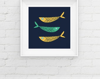 Fish Art Print Contemporary Fish Giclee Art Print