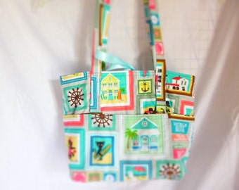 purse/tote with outside pockets