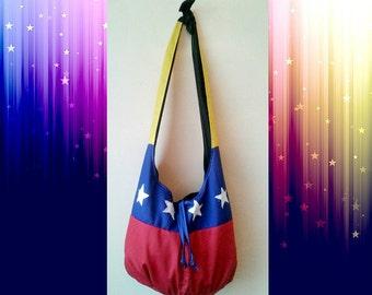 Venezuelan Flag Shoulder bag, Canvas tote bag, seven star Venezuela flag, tricolor venezolano, desde caracas, Bandera Venezolana