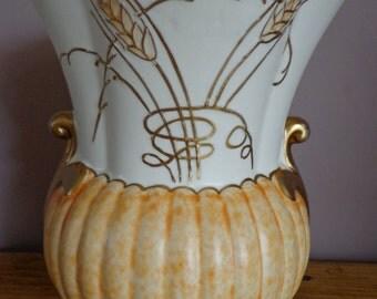 """Gorgeous, Vintage, Fieldings Crown Devon Art Deco Vase, M454 """"Ear Of Corn Pattern"""". 1930,s Fieldings Crown Devon Art Deco Vase,"""
