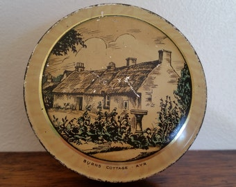 Vintage McVitie And Price Biscuit Tin. Vintage Biscuit Sample Tin. Rare Vintage Macvitie And Price Biscuit Tin Showing Burns Cottage-Ayr