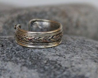 ring silver vintage man. Adjustable