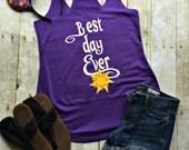 Disney Shirt // Best Day Ever // Disney Tank Top // Disney // Disney Family Shirts // Tangled // Disney Shirts for Women