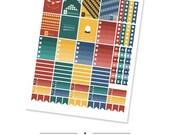 The Wizard Set   Erin Condren Printable Planner Stickers   For Instant Download (PDF)
