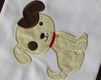 Puppy Dog Applique, Puppy Design, Puppy Dog Embroidery, Cute Dog Applique, Puppy Applique, Boy Applique Design