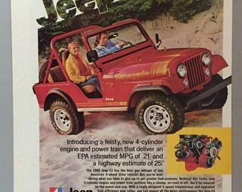 1980 Jeep CJ Print Ad