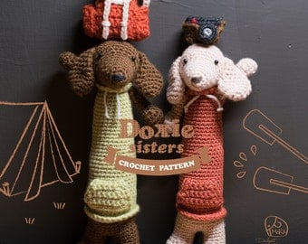 Crochet Doll Pattern_Doxie Sisters doll / Version_Round / MoRA made pattern