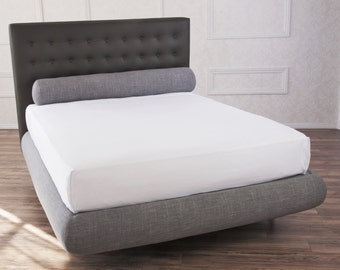 LUNA - bed frame for Queen/King/Full/Twin beds. Exceedingly cushioned in an elegant crescent shape.