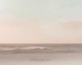 Photography Haze Marine, Landscape, Sea, pastel colors, minimalist Photo, Fine Art Print, Nature collection, photo printing, Deco