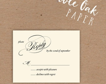 Simple Script Reply Card • 4.25x5.5