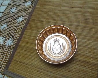 Copper Color Pineapple Jello Mold - Small Copper Jello Mold