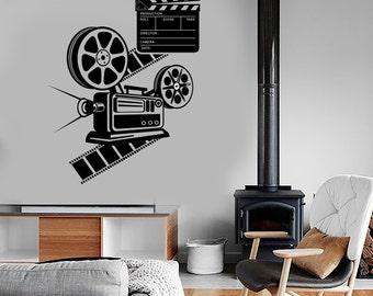 Wall Vinyl Decal Art Film Cinema Movie  Camera Amazing Decor 1359dz