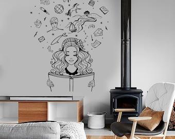 Wall Vinyl Decal Girl Dream Bedroom Fantasy Bedroom Book Amazing Decor 1389dz