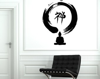 Wall Vinyl Decal Buddha Zen Yoga Enso Enco Guaranteed Quality Decor 2033di