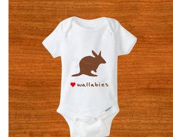 Kangaroo Print Baby Clothes