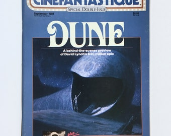 Ghostbusters, Dune, Cinefantastique Magazine, Vintage 1984, Double Issue, Stark Trek, Eraserhead