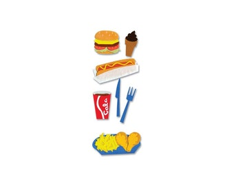 Jolee's Boutique Dimensional Stickers - Fast Food