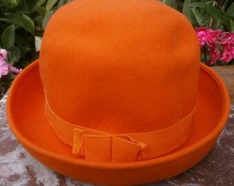 French Vintage Chapeau Femme en Feutre 1960 - French Vintage 60's Women's Hat