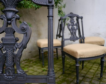 4 victorian-style chairs refurbished