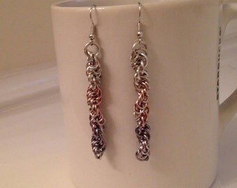 Spiral Chainmaille Earrings