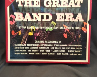 The Great Band Era 10 Vinyl Record Box Set Collector's Edition Original Recordings 1936 to 1945 Glenn Miller Tommy Dorsey Guy Lombardo