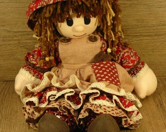 Rag Doll - Red and Brown