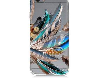 iPhone 7 Clear Case - Feather  - Protective TPU cover for iPhone 7 - 7 plus - iPhone 6s -  6s plus - Samsung Galaxy s5 s6 s7 Note 7