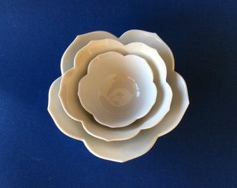 Stack of Nesting Lotus Bowls