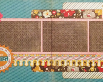 You Are Happiness Kit - Pre-cut 2-Page 12x12 Scrapbook Layout DIY Kit