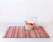 """Vintage Moroccan Berber Rug, """"The Miri,"""" Boujad Rug, Pink Rug, Red Rug, Faded Rug, Colorful Rug, Bohemian Decor, Boho Rug, Turkish Rug"""