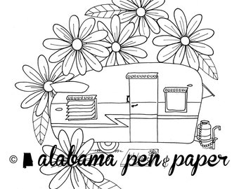 Daisy coloring pages  Etsy