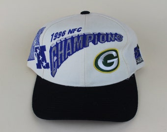 Vintage 1996 Green Bay Packers NFC Champions NFL Football Snap Back Hat - 90s Pro Line Official Hat