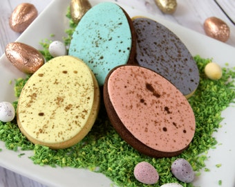 Easter Speckled Egg Cookies