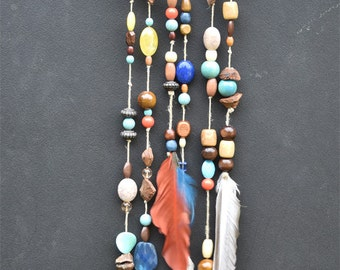 Driftwood Dream Catcher. Boho Wall Hanging And Decor Feather.