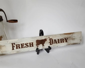 Farm Fresh, Farm Fresh Dairy, Fresh Dairy,  Farmhouse Decor,  Rustic Decor, Rustic Kitcen Sign, Reclaimed Wood Sign, Farmhouse Kitchen Sign