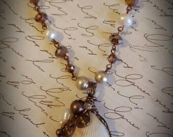 Ocean breeze beaded necklace