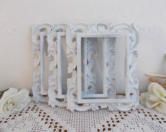 White Shabby Chic Ornate 5 x 7 Picture Frame Photo Decoration Spring Summer Fall Winter Wedding Decoration Cottage Chic Home Decors